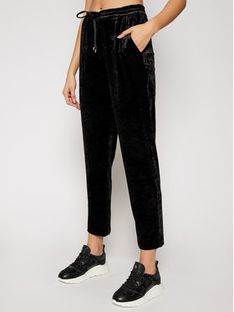 DKNY Spodnie materiałowe P0JKWCOT Czarny Regular Fit