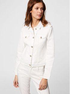 Morgan Kurtka jeansowa 211-VICTOR Biały Regular Fit