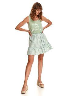 Mini spódniczka w kratkę vichy