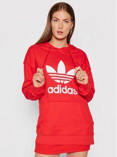 adidas Bluza adicolor Trefoil H33588 Czerwony Regular Fit