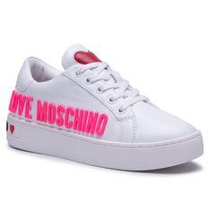 Sneakersy LOVE MOSCHINO - JA15113G1CIAF100  Bianco