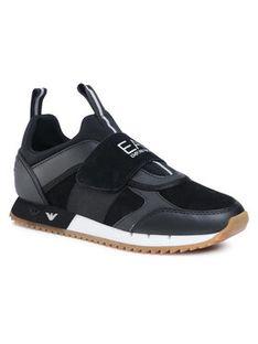 EA7 Emporio Armani Sneakersy X8X066 XK173 N144 Czarny
