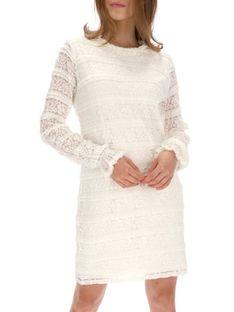 Sukienka koronkowa biała Desigual NURIETA