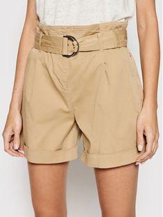 Calvin Klein Szorty materiałowe Paperbag K20K202820 Beżowy Regular Fit
