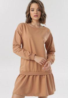 Jasnobeżowa Sukienka Theleli