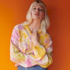 Reserved - Bawełniany sweter tie-dye - Wielobarwny