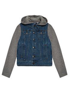 NAME IT Kurtka jeansowa 13193705 Granatowy Regular Fit