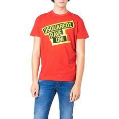 T-shirt męski Dsquared2 w stylu młodzieżowym