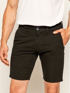 Guess Szorty materiałowe Daniel M02D05 WCRK1 Czarny Skinny Fit