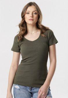 Ciemnozielony T-shirt Blomsea