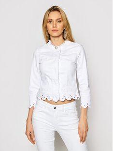 Liu Jo Kurtka jeansowa WA1095 T4033 Biały Slim Fit