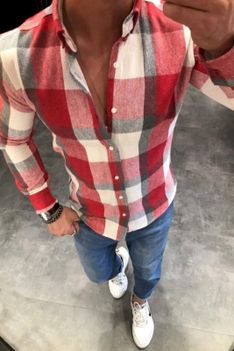 Koszula męska MASON RED