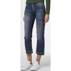 Blue Fire jeansy damskie niebieskie w miejskim stylu