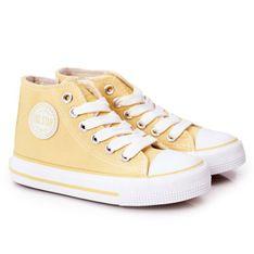 Dziecięce Wysokie Trampki Z Suwakiem Big Star HH374138 Żółte
