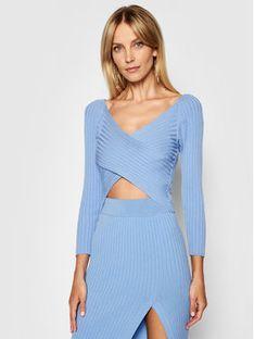 Kontatto Sweter 3M7257 Niebieski Slim Fit