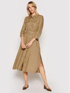Marella Sukienka koszulowa Penny 32211012 Beżowy Loose Fit