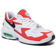 Buty NIKE - Air Max2 Light AO1741 101 White/Black/Habanero Red
