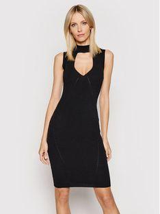 Guess Sukienka dzianinowa W1YK90 Z2DC0 Czarny Slim Fit