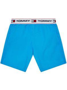 Tommy Hilfiger Szorty kąpielowe Medium Drawstring UB0UB00353 Niebieski Regular Fit
