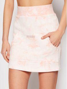 Guess Spódnica mini Embroidery Tie O1GA09 K68I1 Pomarańczowy Regular Fit