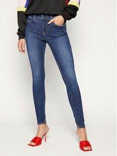 Pepe Jeans Jeansy Zoe PL203616 Granatowy Skinny Fit
