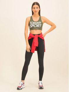 Tommy Sport Biustonosz top Sports Bra Logo S10S100344 Zielony