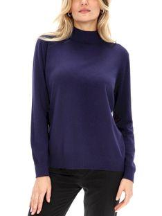 Granatowy gładki sweter Premiera Dona VILLA
