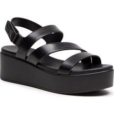 Aldo sandały damskie czarne casual ze skóry ekologicznej