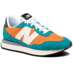 Sneakersy NEW BALANCE - MS237AB Pomarańczowy Zielony