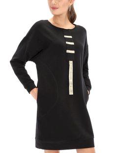 Luźna sukienka z aplikacją Eye For Fashion KIARA