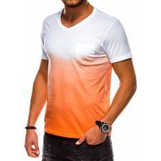 Ombre t-shirt męski wielokolorowy z krótkim rękawem na wiosnę