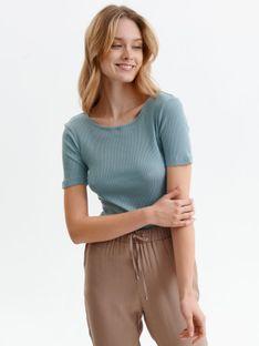 Bluzka z krótkim rękawem o dopasowanym kroju
