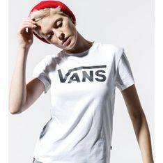 Bluzka damska Vans biała z krótkimi rękawami