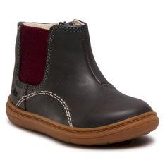 Trzewiki CLARKS - Flash Sea T 261521826 Dark Grey Leather