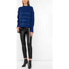 Sweter damski niebieski The Kooples casual