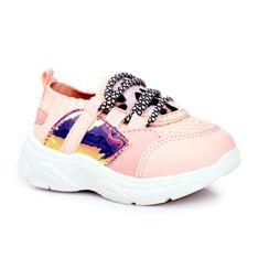 FRROCK Dziecięce Sportowe Buty Różowe Velma