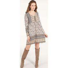 Sukienka Unisono w serek mini z długimi rękawami