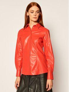 MSGM Koszula 2941MDE19 207652 Czerwony Slim Fit