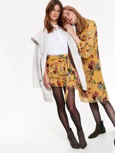 Mini spódnica z kwiatowym nadrukiem