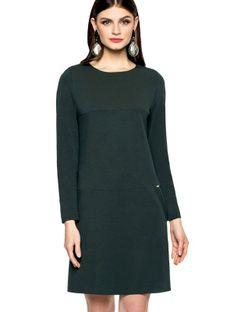 Trapezowa sukienka z przeszyciami L`AF MABEL
