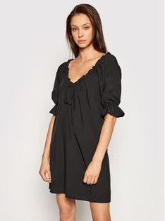 NA-KD Sukienka codzienna Drawstring Neck 1018-006815 Czarny Regular Fit