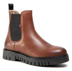 Sztyblety TOMMY JEANS - Warm Lined Chelsea Boot EN0EN01166 Winter Cognac GVI