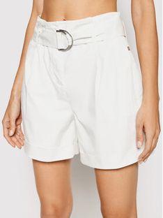 Calvin Klein Jeans Szorty materiałowe Paperbag K20K202820 Biały Regular Fit