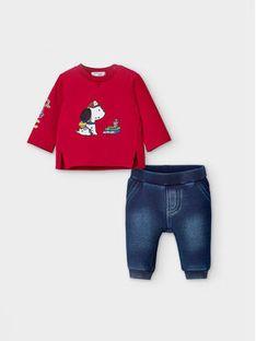 Mayoral Komplet bluzka i spodnie 2572 Kolorowy Regular Fit