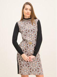 Tory Burch Sukienka codzienna Silk Front Sweater 60208 Regular Fit