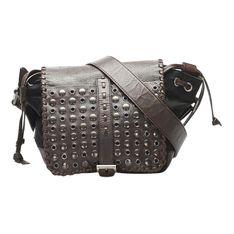 Gromment Tessuto Crossbody Bag