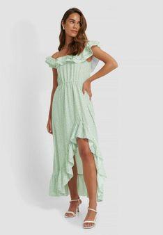 NA-KD - Długa sukienka - zielony