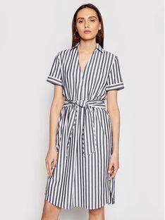 Tommy Hilfiger Sukienka koszulowa Cot Poplin WW0WW30352 Szary Regular Fit
