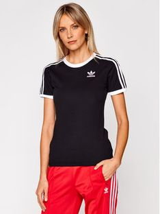 adidas T-Shirt 3 Stripes Tee GN2900 Czarny Regular Fit