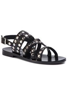 TWINSET Sandały Sandalo 191TCP04G Czarny